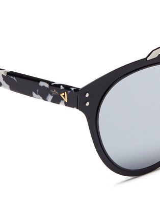 Detail View - Click To Enlarge - Stephane + Christian - 'Adora' tortoiseshell temple metal mirror sunglasses