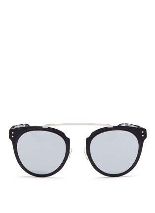 Main View - Click To Enlarge - Stephane + Christian - 'Adora' tortoiseshell temple metal mirror sunglasses
