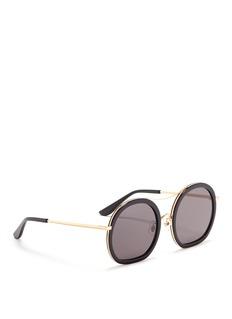 Stephane + Christian'Drugduck' acetate insert metal round sunglasses