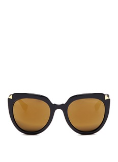 Stephane + Christian'Moka' oversized D-frame acetate mirror sunglasses