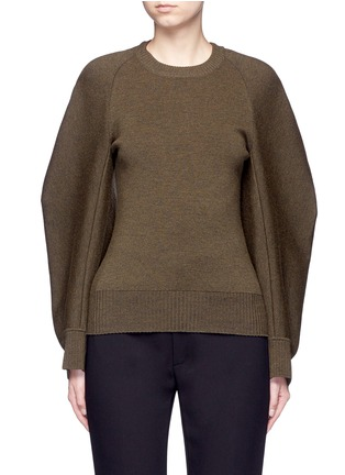 Main View - Click To Enlarge - Balenciaga - Cocoon sleeve wool blend knit sweater