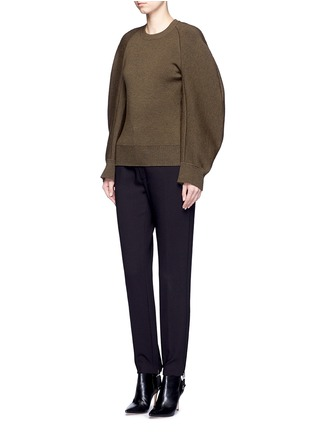 Figure View - Click To Enlarge - Balenciaga - Cocoon sleeve wool blend knit sweater