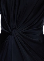 Knot detail drape cady gown