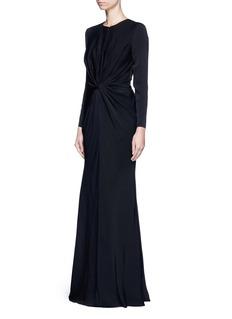 Alexander McQueenKnot detail drape cady gown