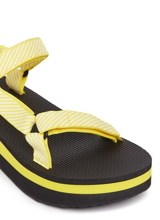 Detail View - Click To Enlarge - Teva - 'Flatform Universal' candy stripe print sandals