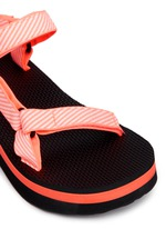 'Flatform Universal' candy stripe print sandals