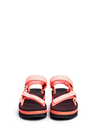 Front View - Click To Enlarge - Teva - 'Flatform Universal' candy stripe print sandals