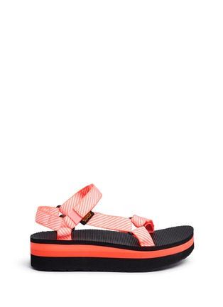 Main View - Click To Enlarge - Teva - 'Flatform Universal' candy stripe print sandals