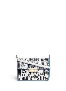LANVIN'Jiji' small illustrative print leather shoulder bag