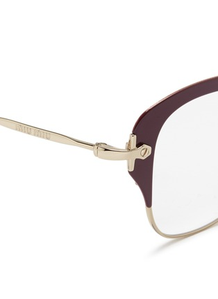 Detail View - Click To Enlarge - miu miu - Coated rim metal optical glasses