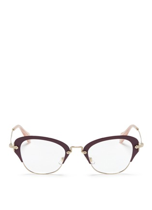 Main View - Click To Enlarge - miu miu - Coated rim metal optical glasses
