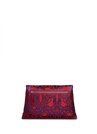 Back View - Click To Enlarge - Dries Van Noten - Vintage jacquard envelope clutch