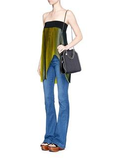 STELLA MCCARTNEY'Falabella' mini woven two-way chain tote
