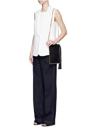 Figure View - Click To Enlarge - Stella McCartney - 'Falabella' crossbody flat chain bag