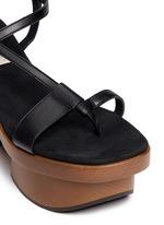 Chunky wooden heel platform sandals