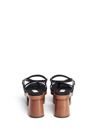 Stella McCartney - Chunky wooden heel platform sandals