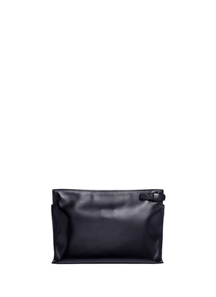 Back View - Click To Enlarge - Loewe - 'T Pouch' large leather zip clutch