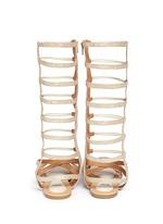 'Camia Sparta High' metallic kids gladiator sandals