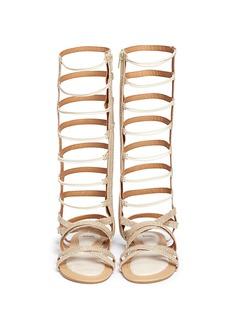 STUART WEITZMAN'Camia Sparta High' metallic kids gladiator sandals
