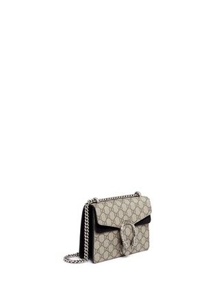 Front View - Click To Enlarge - Gucci - Dionysus' mini GG monogram leather shoulder bag