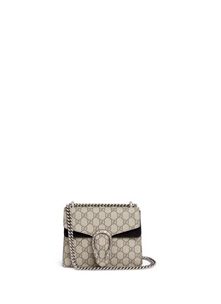 Main View - Click To Enlarge - Gucci - Dionysus' mini GG monogram leather shoulder bag