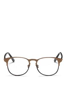 LINDA FARROWSquare brownline optic glasses