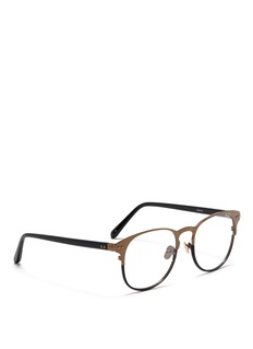 LINDA FARROW Square brownline optic glasses