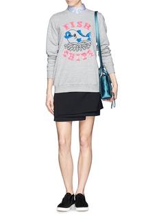 MARKUS LUPFER'British fish & chips' sequin sweatshirt