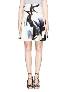 MO&CO. EDITION 10 Abstract print A-Line skirt