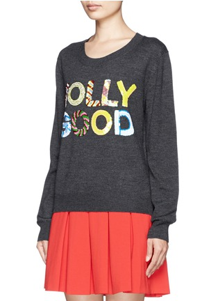 Front View - Click To Enlarge - MARKUS LUPFER - 'Jolly Good' sequin Joey sweater