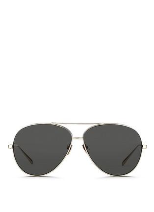 Linda Farrow-'Classic' 22k titanium aviator sunglasses