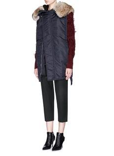 3.1 PHILLIP LIMDiamond fringe jacquard mohair-wool cardigan