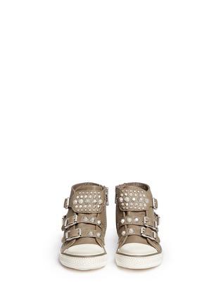 模特儿示范图 - 点击放大 - Ash Kids - Frog幼儿款铆钉搭带高筒运动鞋