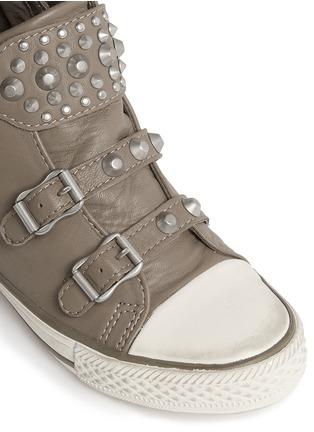 细节 - 点击放大 - Ash Kids - Frog儿童款铆钉搭带高筒运动鞋