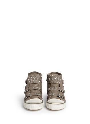 模特儿示范图 - 点击放大 - Ash Kids - Frog儿童款铆钉搭带高筒运动鞋