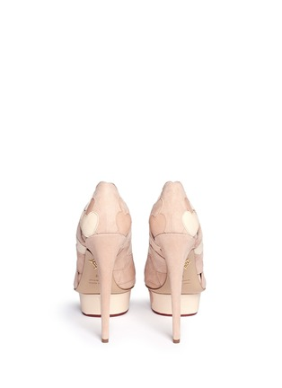Back View - Click To Enlarge - Charlotte Olympia - 'Love Me' suede heart appliqué pumps