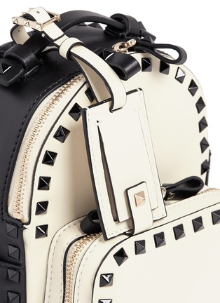 Detail View - Click To Enlarge - Valentino - 'Rockstud' mini colourblock backpack