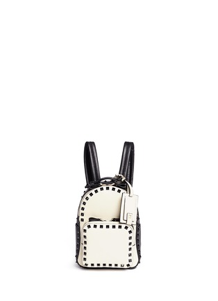 Main View - Click To Enlarge - Valentino - 'Rockstud' mini colourblock backpack