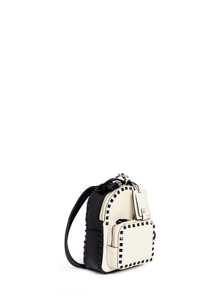 Figure View - Click To Enlarge - Valentino - 'Rockstud' mini colourblock backpack