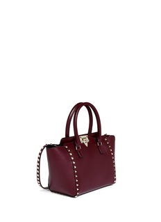 VALENTINO 'Rockstud' small leather zip tote