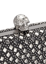 Stud skull leather box clutch