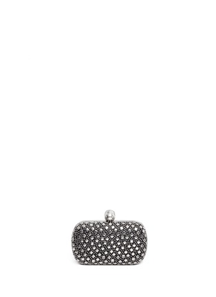 Back View - Click To Enlarge - Alexander McQueen - Stud skull leather box clutch