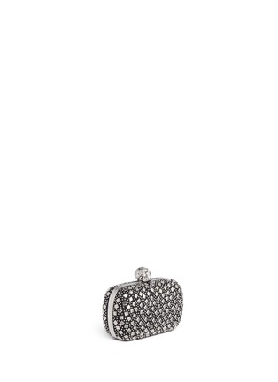 Figure View - Click To Enlarge - Alexander McQueen - Stud skull leather box clutch