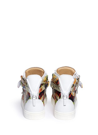 Back View - Click To Enlarge - Giuseppe Zanotti Design - 'London' comic strip print leather high top sneakers