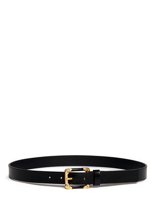 Main View - Click To Enlarge - Alexander McQueen - Skull corner buckle leather belt