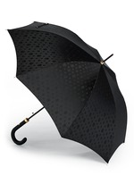 Skull jacquard leather handle umbrella