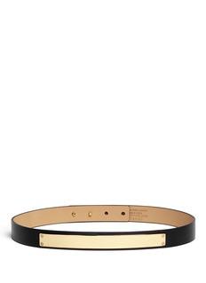 ST. JOHNMetal plate leather belt
