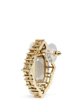 Detail View - Click To Enlarge - ST. JOHN - 'Ornate' Swarovski crystal pearl pavé earrings