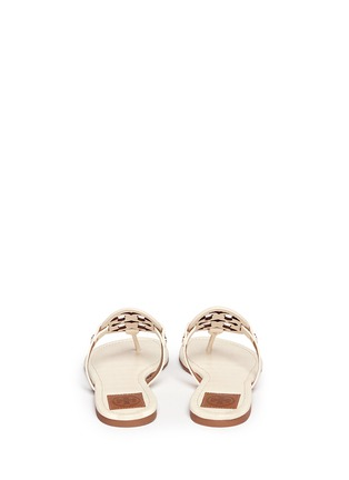 Back View - Click To Enlarge - Tory Burch - 'Miller' crocodile print thong sandals