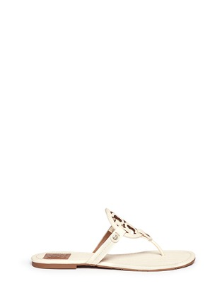 Main View - Click To Enlarge - Tory Burch - 'Miller' crocodile print thong sandals